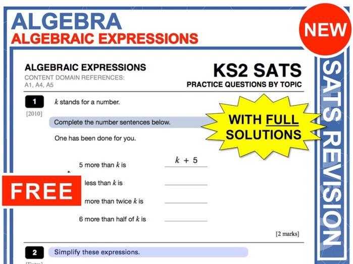 KS2 Maths (Algebraic Expressions)
