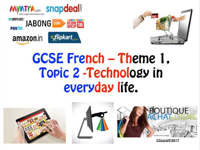 French GCSE - Shopping Online - Theme 1, Topic 2.
