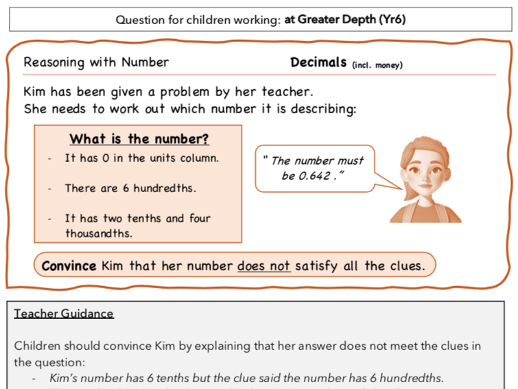 Year 6 Maths: Reasoning with Dec incl. £
