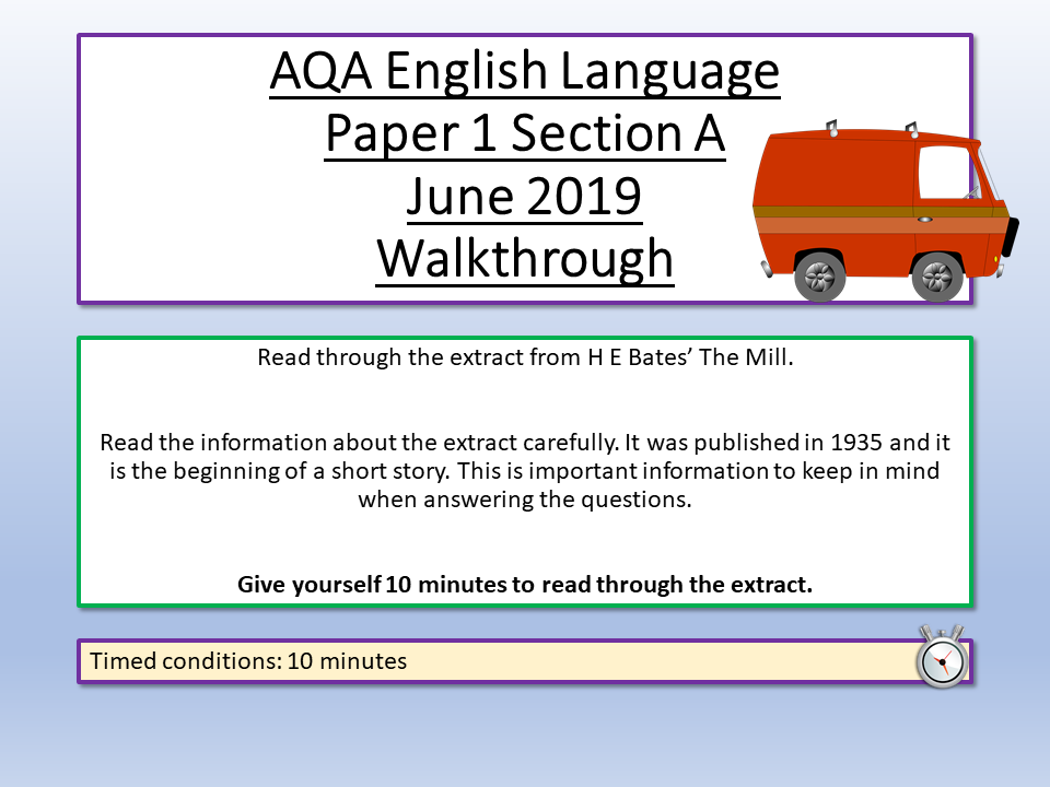 AQA English Language Paper 1 June 2019