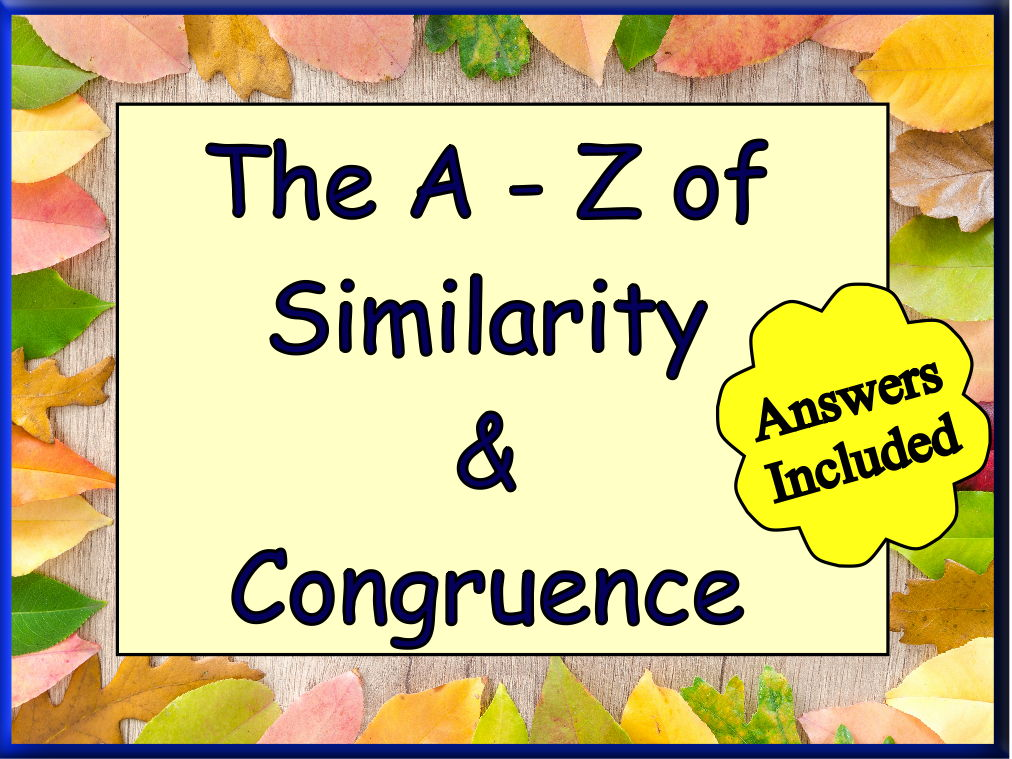 Similarity & Congruence from first to last