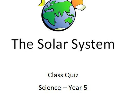 The Earth and Beyond: Year 5 Science Quiz