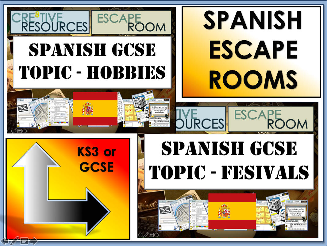 Spanish GCSE Revision Escape Rooms