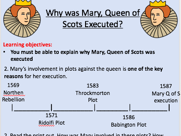 Why was Mary Queen of Scots Executed - Full Lesson and Resources