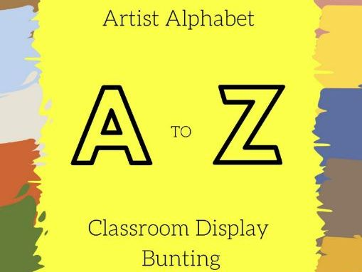 Artist Alphabet | A to Z | Classroom Display Bunting