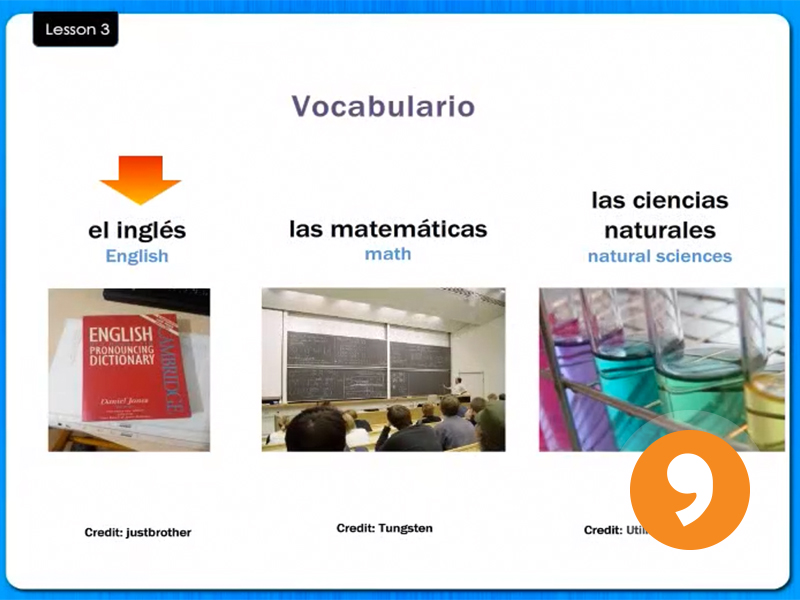 Las Asignaturas - School Subjects - Video Tutorial