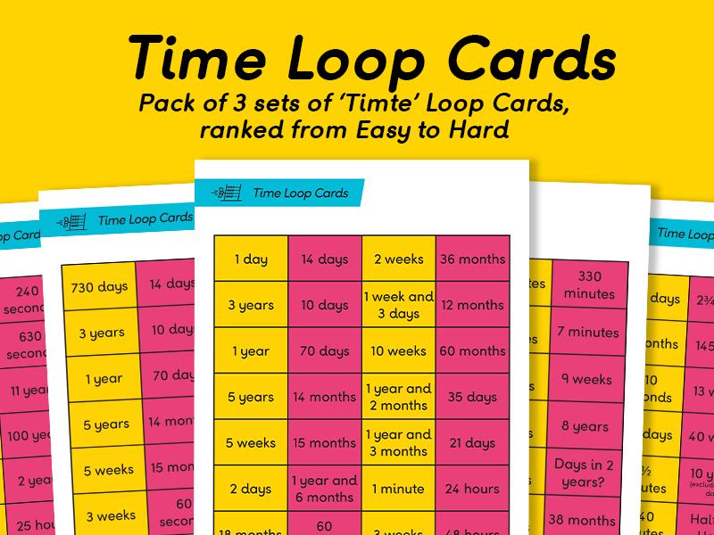 Time Loop Cards in Easy, Medium & Hard