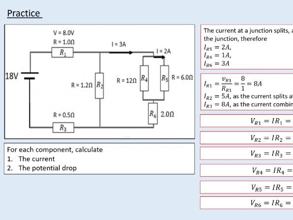 A level Physics (13.1) Circuit rules (Direct current circuits)