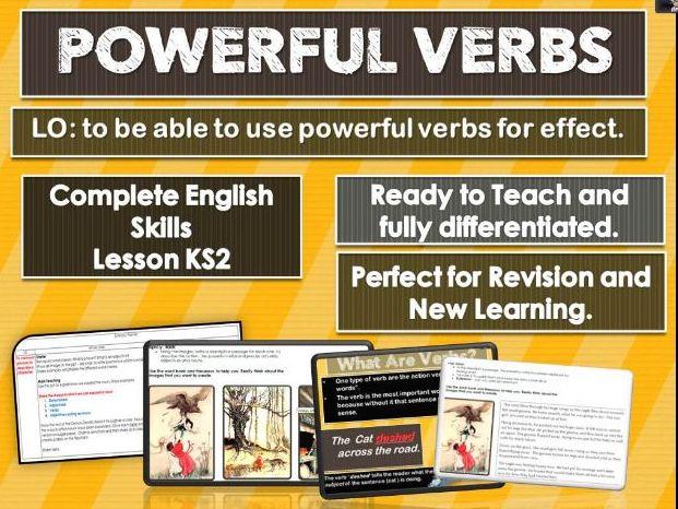 POWERFUL VERBS - complete skills lesson KS2