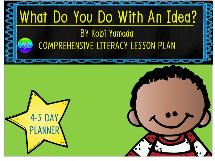 what do you do with an idea by kobi yamada 4 5 day lesson plan by