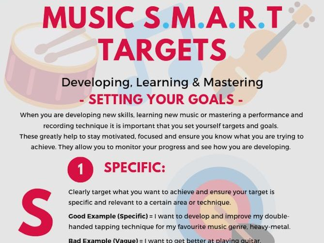 SMART Targets: Music-LESSON & INFOGRAPHIC