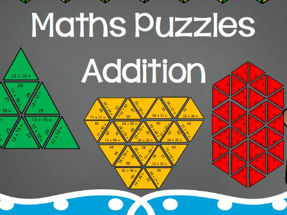 Maths Puzzles: Addition Tarsia