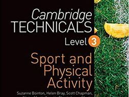 Cambridge Technical Sport Unit 1 - LO4 Impact of Physical Activity on Respiratory System
