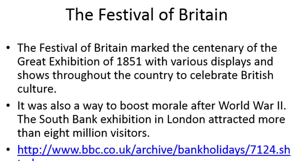 WJEC/EDUQAS GCSE History Britain 1951-1979  Britain in 1951
