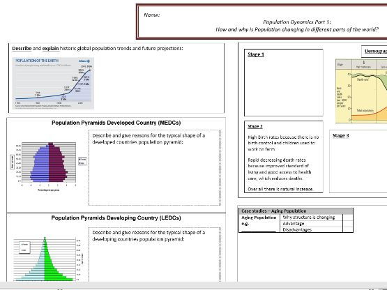Geography GCSE Revision Sheets x 10!!! Plus 2 Free Gifts