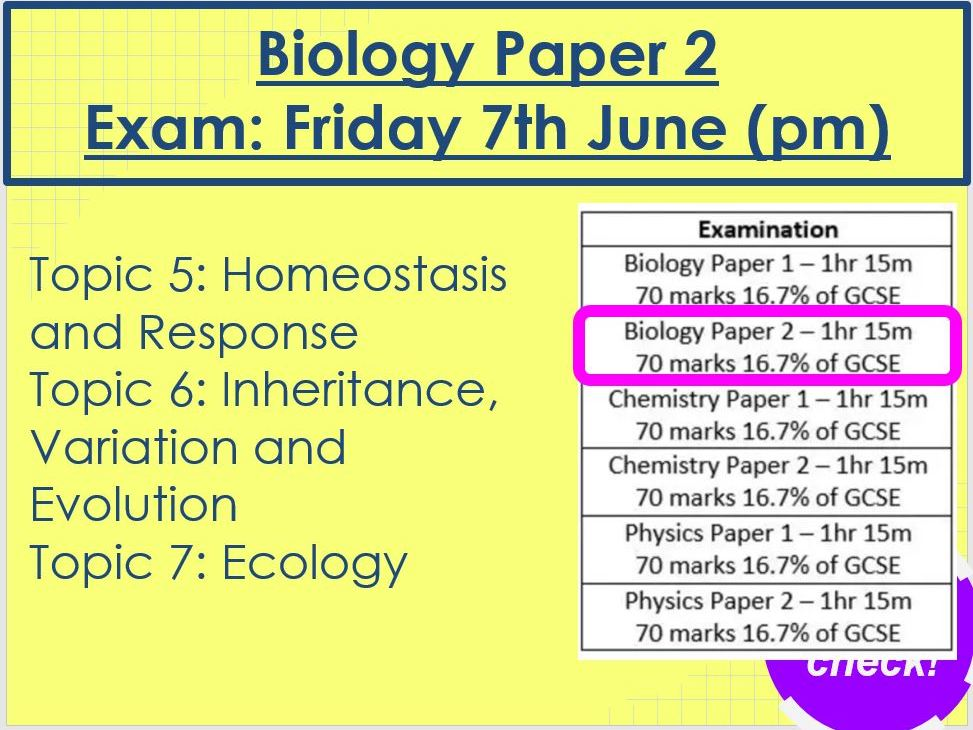 Biology Paper 2 Revision AQA Triology Foundation