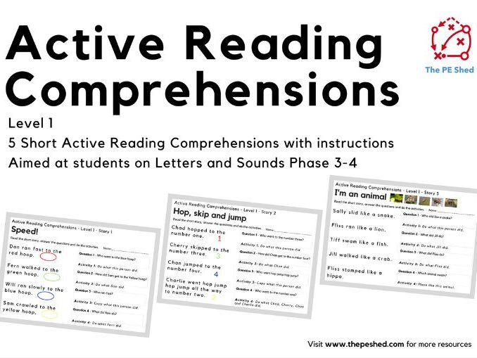 Active Reading Comprehensions - Level 1 - Letters and Sounds Phase 3-4