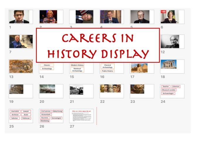 Careers in History Display