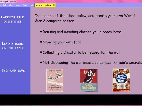 Art - KS2 - World War 2 Unit Resources and Planning