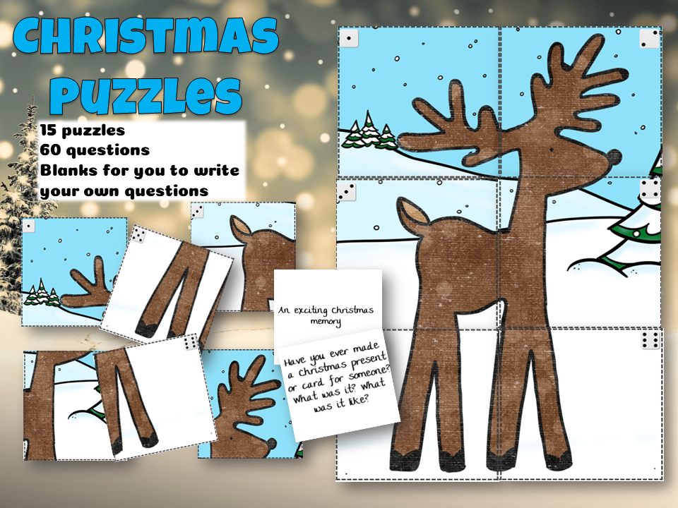 Christmas social and emotional puzzles