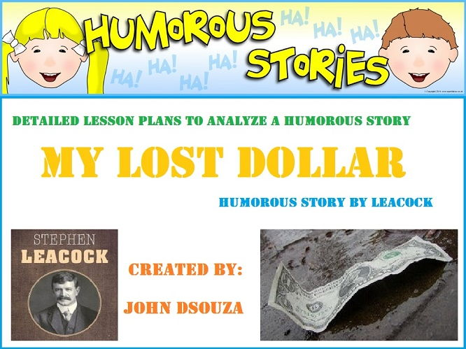 MY LOST DOLLAR - READING PROSE: UNIT LESSON PLANS AND RESOURCES