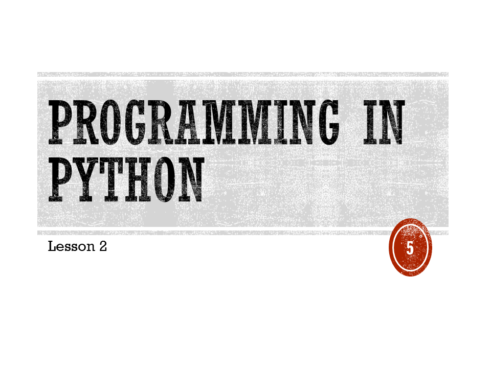 KS3 Python - Introduction