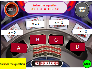Solving Equations Million Pound Drop