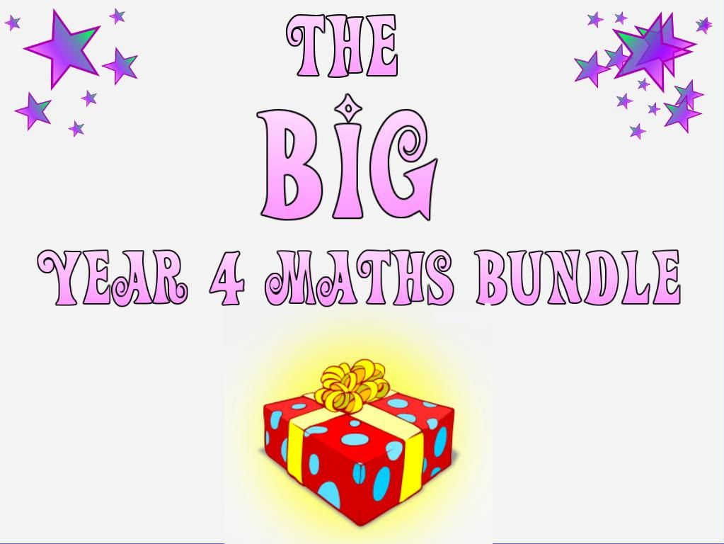 Year 4 Maths Bundle