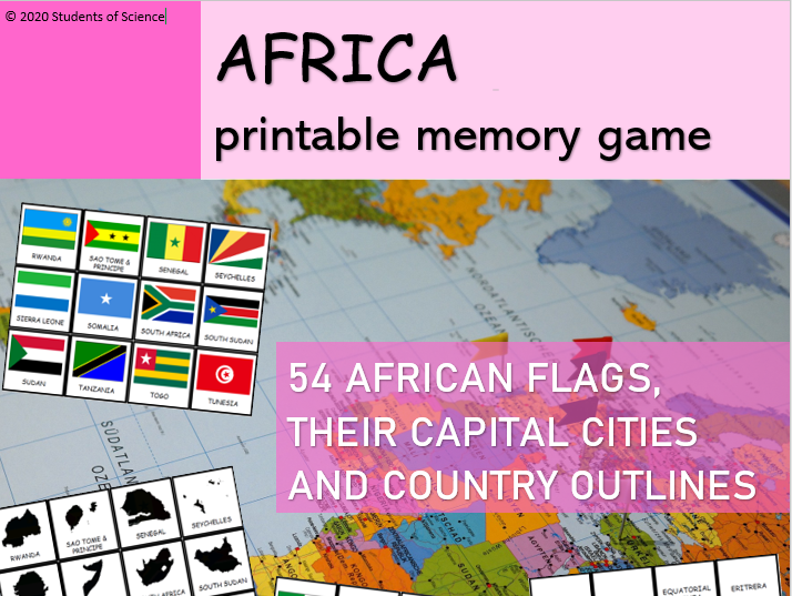 Memory Game (AFRICA): Flags, Capital Cities and Outlines