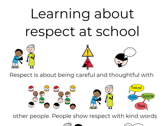 Learning about respect social story