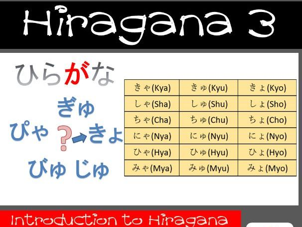 Beginners Japanese Study Hiragana Lesson 3 Learn to read and write Japanese