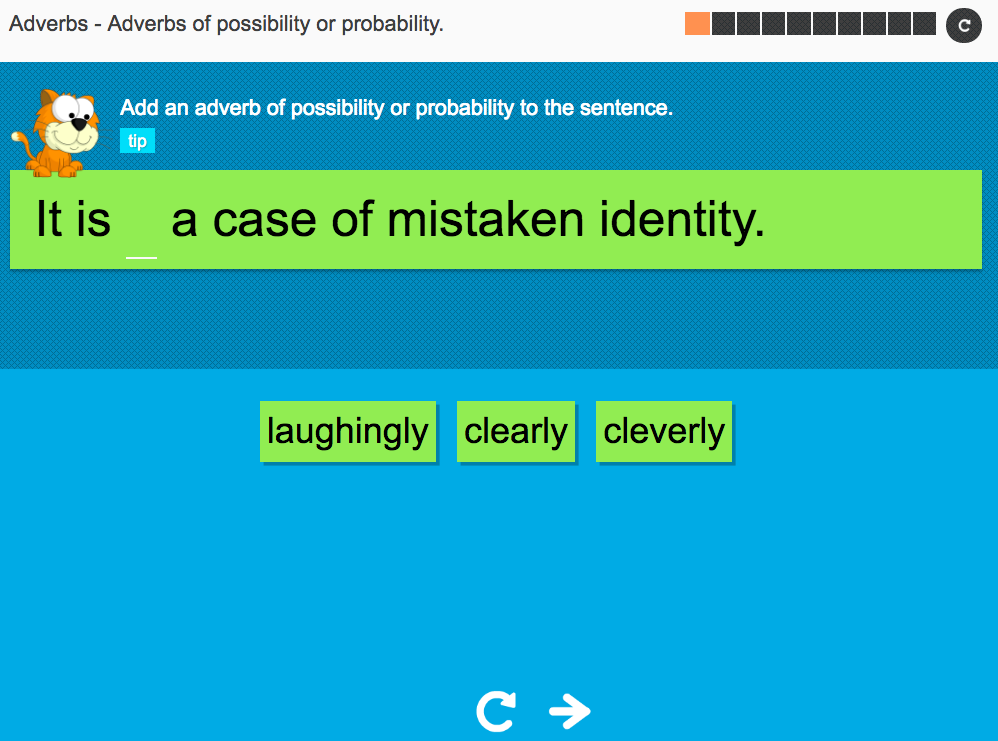 Adverbs of possibility or probability - Interactive Activity - KS3 Spag