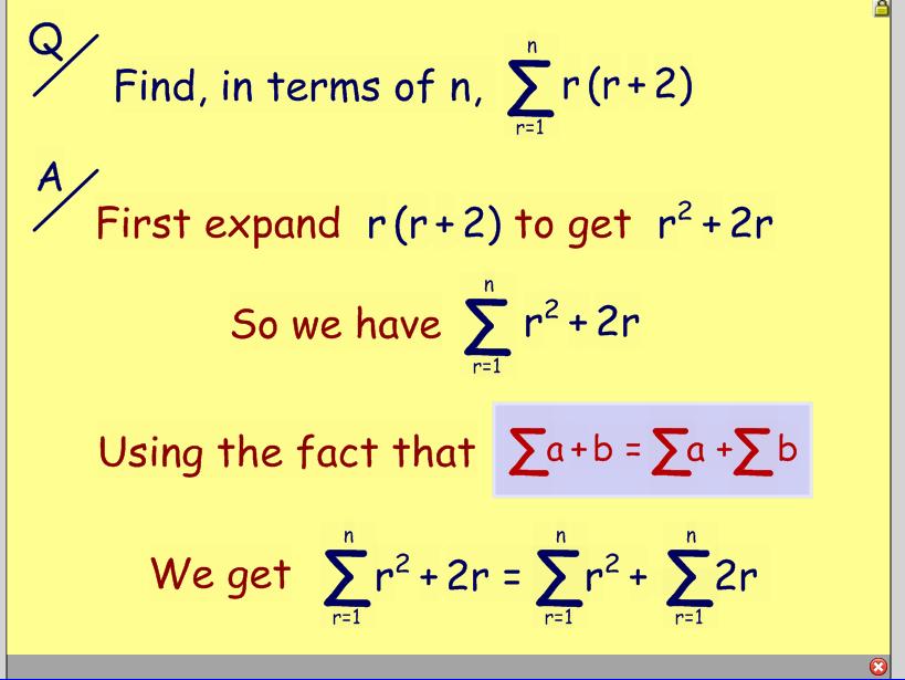 Series - using general formulas