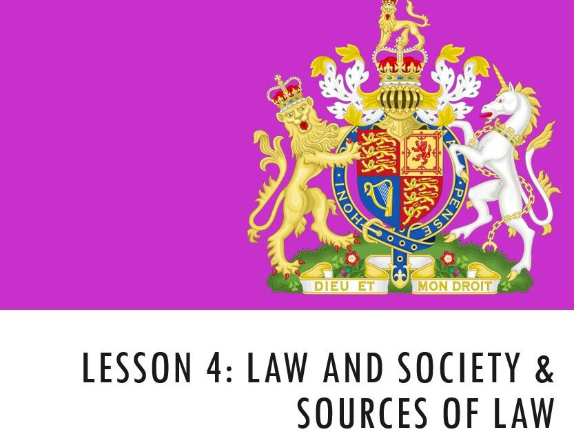ELS - Law and Society & Sources of Law