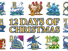 CHRISTMAS Maths Problems linked to the Twelve Days of Christmas
