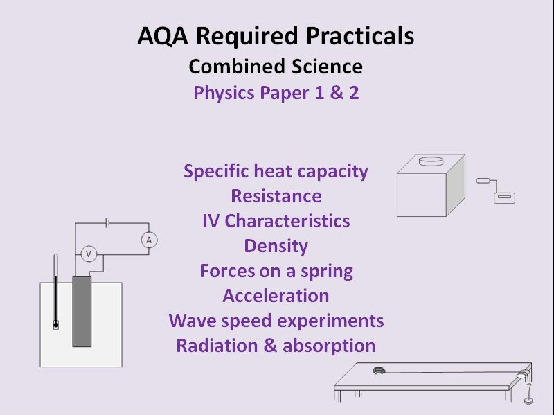 Required Practicals - AQA Combined Science Physics