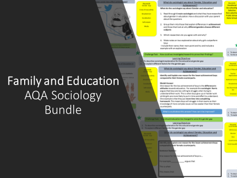 Family and Education AQA Sociology Bundle