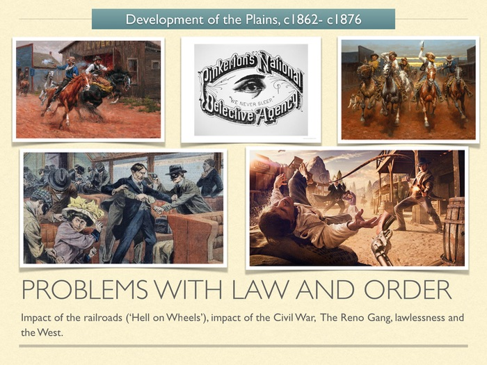 GCSE History American West 1800s. Problems with law and order.