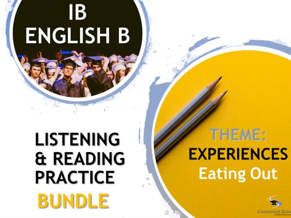 IB ENGLISH B LISTENING AND READING PRACTICE BUNDLE
