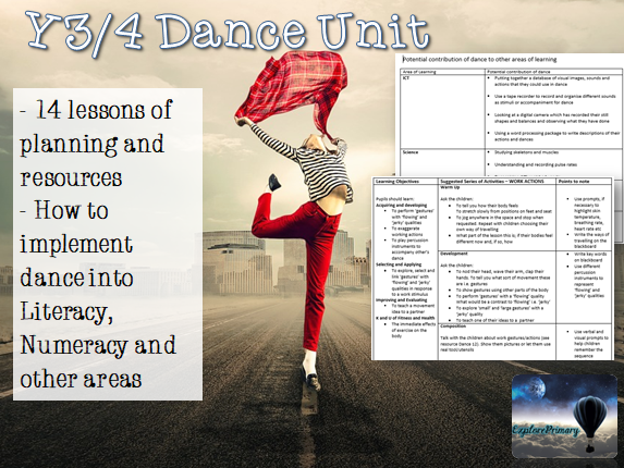 Y3/4 PE Dance Unit LKS2  14 Lessons Y4