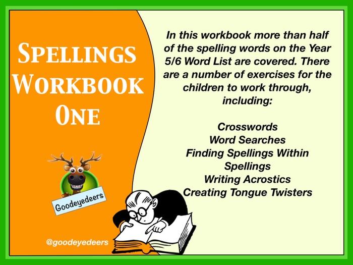 Spellings Workbook 1 - Years 5/6