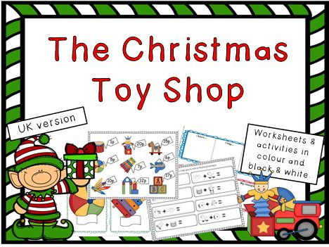 Christmas Toy Shop Money Activities