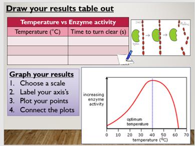 KS4 B3.5 Factors affecting enzymes (temp)