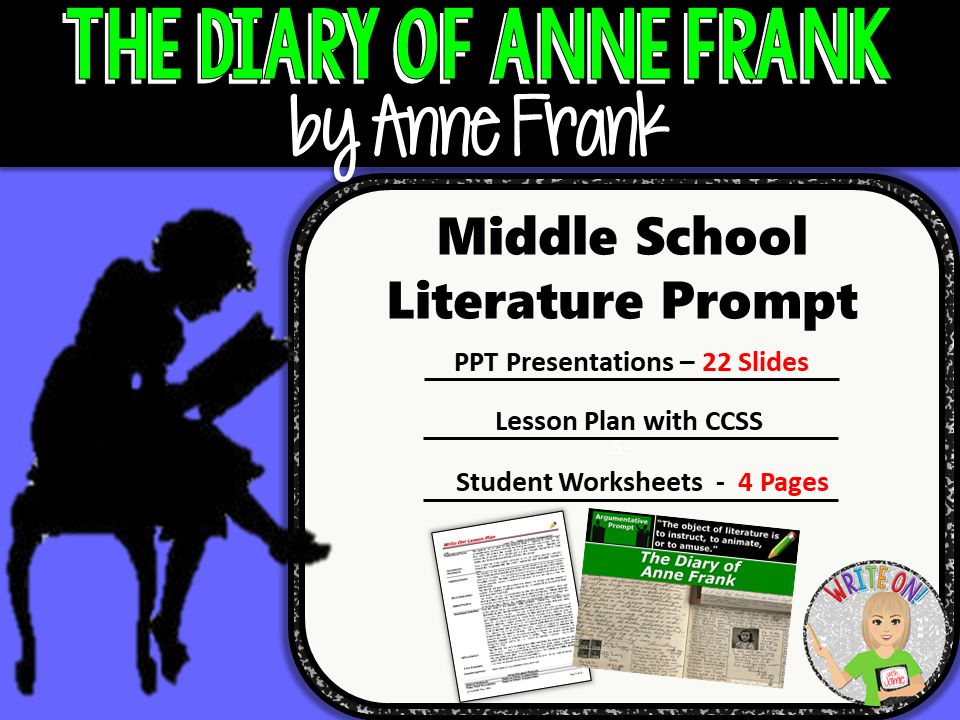 anne frank writing prompts Anne frank says, the mean anne comes to the outside and the good anne stays on the inside write a journal entry where you describe the you that is on the outside, the one people see then, describe the you that is on.