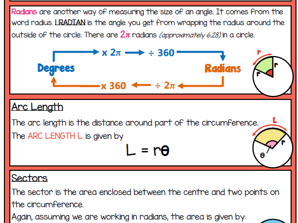 Maths for Engineers - Radians, Arc length and Sectors
