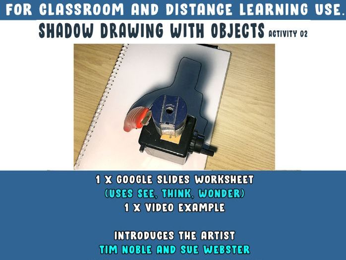 Object Shadow Drawing Art Activity [Classroom and Home Learning]