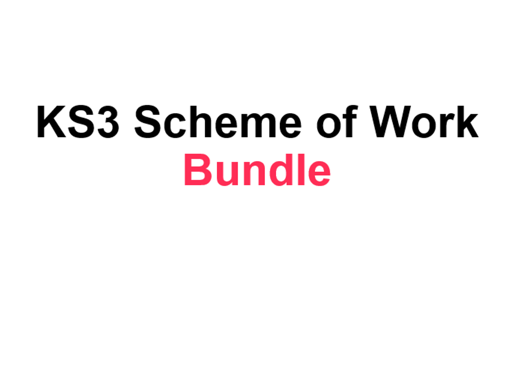 KS3 Literature Schemes of Work Bundle