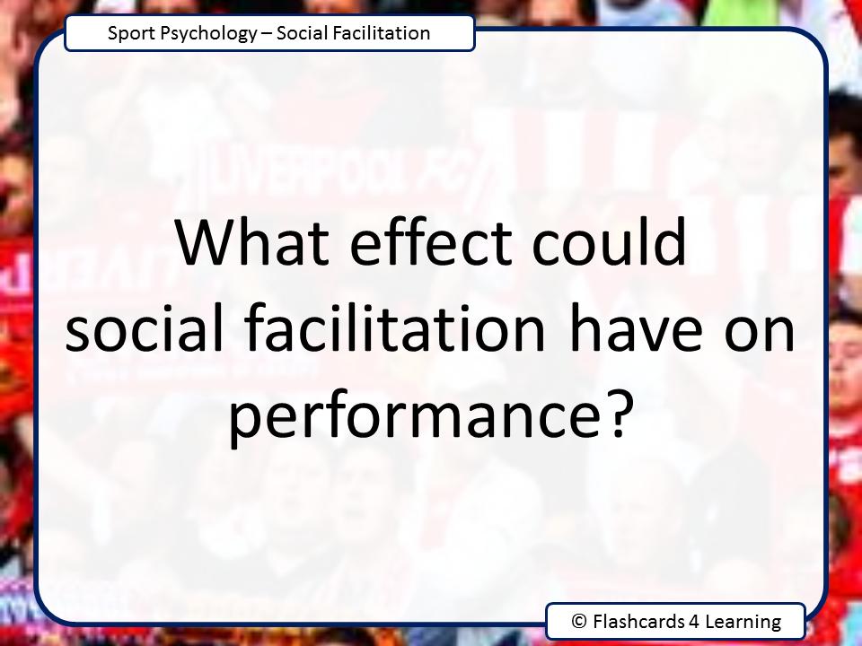 A Level PE: Social Facilitation - Question Cards