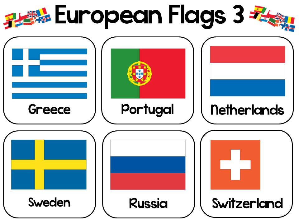 European Day of Languages Flags Colouring Activity
