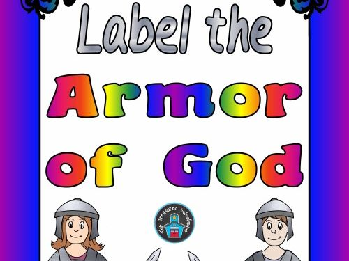 Label the Armor of God Worksheets